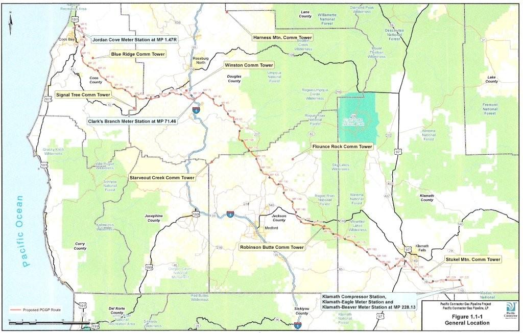 Pacific Connector Gas Pipeline - FERC Resource Report No. 1 Map - June 2013