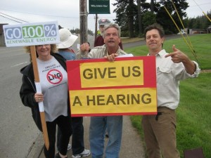 Citizens Rally before City of North Bend Meeting 7-16-2014