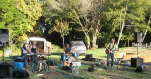 Great music from the Rogue Rebellion band ended the Hike the Pipe Rally Event.