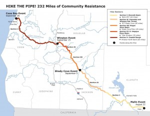 Hike the Pipe route and schedule