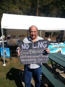 John Clarke  _ Director at the Sept 26, 2015 Hike the Pipe Rally