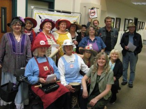 Raging Grannies of Coos County make an appearance when citizens file an appeal of the Jordan Cove LNG Worker Camp permit - October 19, 2015.